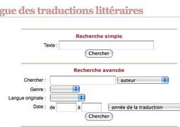 Catalogue de Traductions Littéraires disponible sur le Réseau